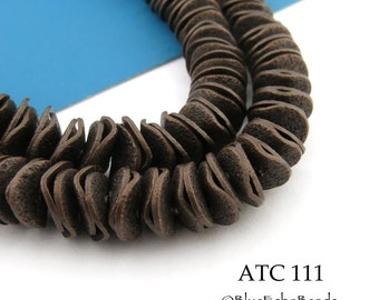7mm Antique Copper Potato Chip Beads, Small Wavy Disks (ATC 111) 100 pcs Full Strand BlueEchoBeads