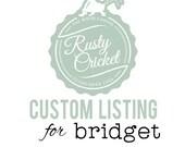 Custom 5X7 frame Bridget Adams