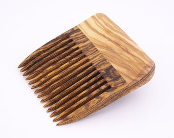 Olivewood and Bocote Beard Comb (Handmde in USA) O1  Gift for Him - 5th Anniversary - Father's Day - Gift for Boyfriend - Gift for Husband