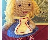 Alice In Wonderland Crochet Doll