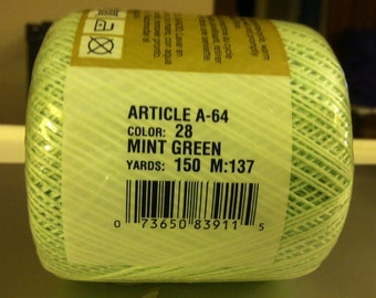 Knit Cro-Sheen Cotton Crochet Thread 150 Yards Mint Green