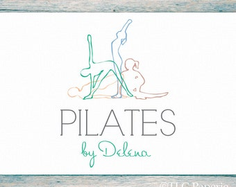Pilates Logo, Custom Logo, Yoga Logo, Fitness Logo, Business Logo, Premade Logo