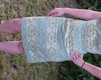Mid Century Vintage 1950s Summer Wiggle Dress