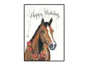 Handmade Happy Birthday Horse Greeting Card
