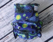 One Size Stay Dry Overnight Fitted Cloth Diaper in Starry Night by Soothe Baby