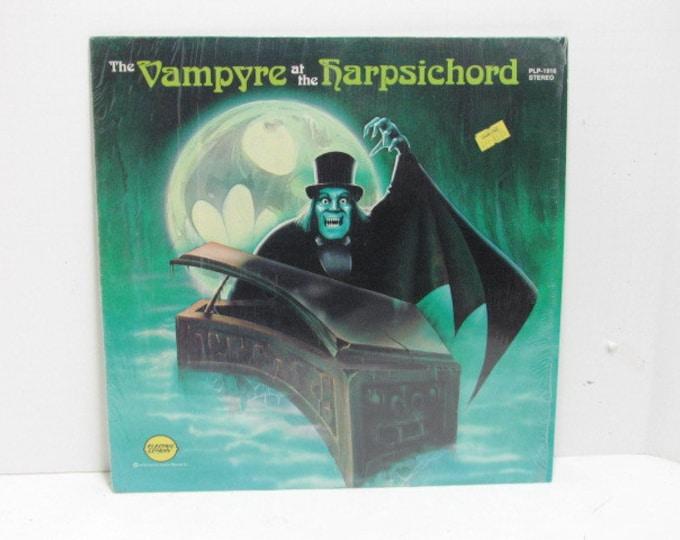 Halloween Music LP, The Vampyre at the Harpsichord Electric Lemon Record in Shrink, Vintage Halloween Vampire LP
