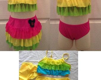 Disney Sale!!! Bathing/Swim Suit Three Piece with embroidered design