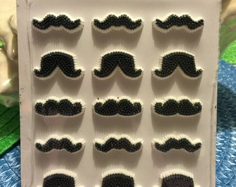 Wilton Black Mustache Icing Decorations