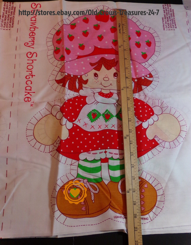 Vintage Strawberry Shortcake Fabric 45