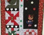 Black History Sale Brown Sugar Christmas 27x38 inch art quilt