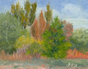 "Original plein air oil painting, ""Savannas Colors"", 8""x10"" oil on canvas panel"