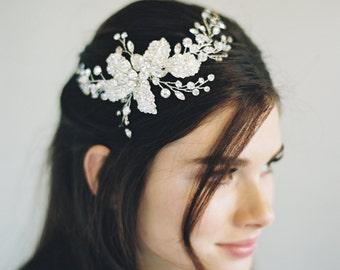 Bridal Hair Comb, Silver Gilded Hair Comb, Swarovski Crystal Comb, Bridal Hair Accessory, Swarovski Crystal Bridal Comb, Woodland Comb, 1603