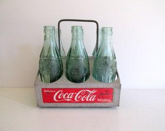Vintage Cola Carrier Aluminum Caddy Coke Six Pack Coca Cola Bottles