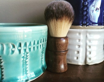 Shave Cup, Groom Gift, Wet Shave, Handmade Pottery, Use with shave soap for old-school shave.