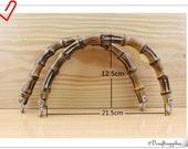 8 1/2 inch Bamboo purse handles bag handles a pair M11