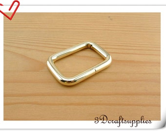 1 inch ( 25mm )  gold strap ring purse ring rectangle ring metal strap adjuster ring 10pcs U190