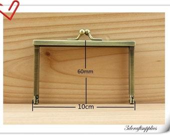 Coin Wallet Purse frame for make a wallet 10cm x 6cm  Anti bronze A21