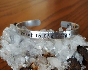 Trust in the Lord Aluminum Cuff - Bridgette Font