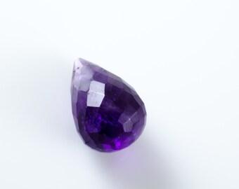 Faceted Amethyst Gemstone Teardrop A Grade