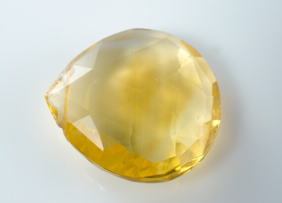 Faceted Citrine Heart Briolette
