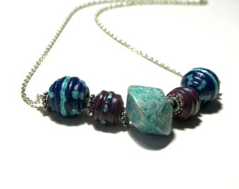Chunky Necklace Wood Necklace Greek Ceramic Lariat Statement Necklace Top Selling Jewelry