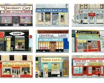 Glasgow Cafes - Print