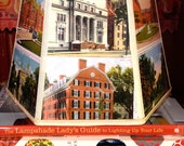 Yale Lamp Shade, Lampshade Vintage Yale University Postcards, 7x10x7 Clip Top, Graduation and Alumni Gifts - Desk Lampshade easy fit