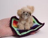 OOAK Realistic Miniature Tibetan Terrier Dog -by Malga