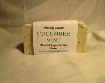 Cucumber-Mint Castile Goat Milk Soap