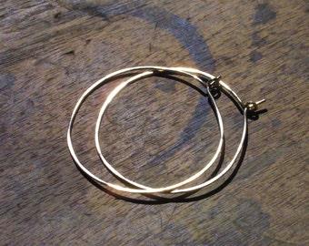 Delicate Everyday Wire Hoops in Gold or Silver - Simple Hoops - Classic Jewelry - Hoop Earrings - Minimal