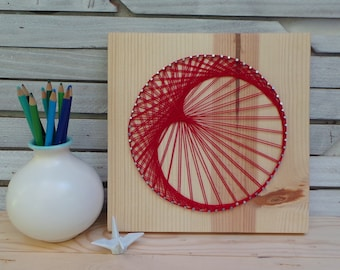 Retro Crescent Moon - Modern String Art Tablet