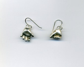 Baby hands earrings
