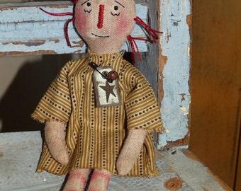 Primitive Raggedy Anne Rag Doll