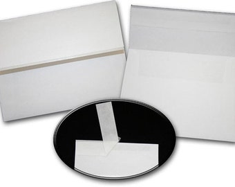 Leader WHITE Wove ZIP STICK A7 Envelopes 50 pack