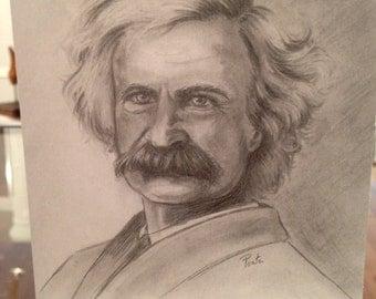 Mark Twain  Samuel Clemens Blank Card - Ponte's Historic Figures Art Cards