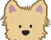 SALE 65% off Yorkie Puppy Dog Face Applique Machine Embroidery Designs 2 Sizes Included Instant Download Sale