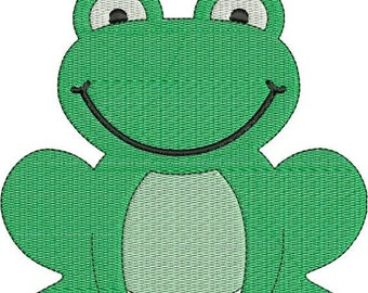 SALE 65% off Cute Frog Machine Embroidery Designs 4x4 & 5x7 Instant Download Sale