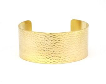 Brass Hammered Cuff - 2 Raw Brass Hammered Cuff Bracelet Blank Bangles (30x148x0.80mm) Brc205