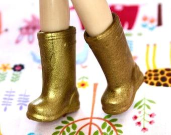 Blythe Antique Gold Shimmer Doll Gumboots