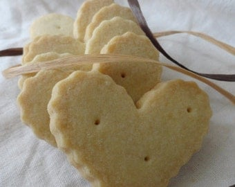 Fluted Hearts ~ Vanilla Bean Shortbread Cookies ~
