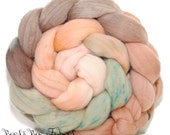 ROBIN - Domestic Merino Hand-Dyed Hand Painted Combed Top Wool Roving Spinning Felting fiber - 4.1 oz
