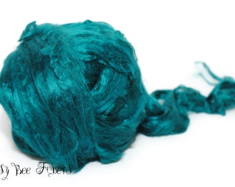 MALACHITE - Bamboo Viscose Roving Combed Top for Felting or Spinning Cellulose Vegan Fiber 4 oz