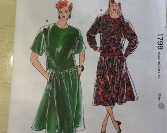 KWIK SEW Top and Skirt Pattern 1799 UNCUT All Sizes