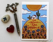 Home Sweet Home - 5x7 Art Card with Envelope