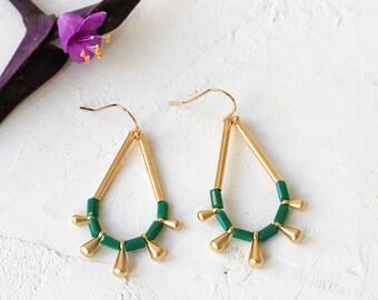 Monsoon Earrings, Dangle & Drop Earrings, Summer Earrings, Colorful Beaded Earrings, Gold Plated Earrings, Silver Plated Earrings, Tribal