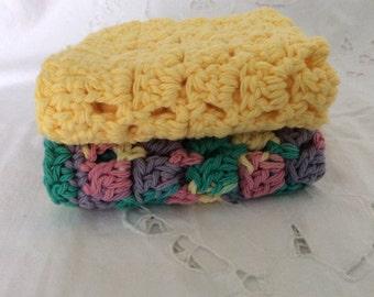 Crochet Dishcloth 100 Percent Cotton Dishrag Wash Cloth Hand Made