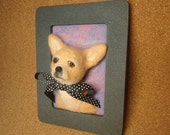 Chihuahua Framed Needle-Felted Portrait