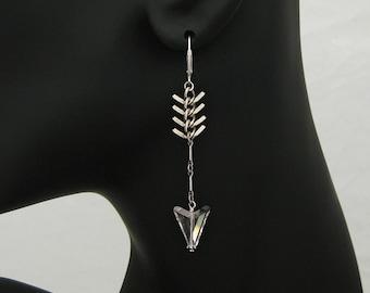 Aim True - Boho Jewelry, Silver Arrow Earrings, Bohemian Jewelry, Boho Earrings, Boho Chic, Archery Jewelry, Sagittarius Jewelry