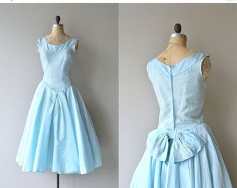 25% OFF.... Above the Clouds dress |  vintage 1950s dress | 50s party dress