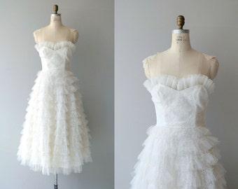 Eyelash Tulle wedding dress | vintage 1950s wedding dress | strapless tulle 50s wedding dress